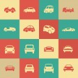 Retro cars icons set different vector car forms. — Stock Vector #41802527