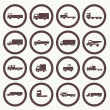 Transport truck icons — Stock Vector