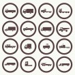 Stock Vector: Transport truck icons