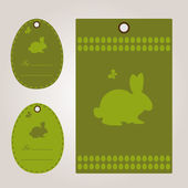 Happy easter card with rabbit — Stock vektor