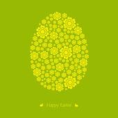 Floral easter egg. Vector. Illustration. — Stok Vektör