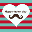 Fathers day card, retro style. — Stock vektor #46624587