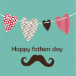 Fathers day card, retro style. — Stock vektor #46624619