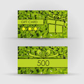 Beautiful gift card, vector illustration. — Stock Vector