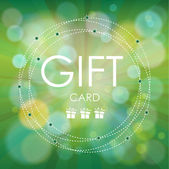Hermosa tarjeta de regalo, ilustración vectorial. — Vector de stock