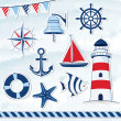 Nautical design elements — Stock Vector #35556339