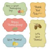 Cornici di ringraziamento — Vettoriale Stock