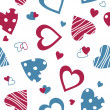 Valentine seamless pattern with hearts — Imagen vectorial