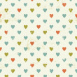 Vintage seamless pattern with hearts — Vettoriali Stock