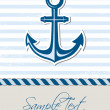 Nautical background with anchor — Stock Vector #35933133