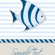 Nautical background with fish — Stock Vector #35933177