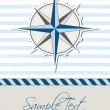 Nautical background with compass — Imagen vectorial