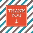 Thank you greeting card — Vector de stock #35933423