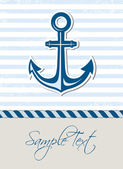 Nautical background with anchor — Stock Vector