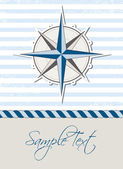 Nautical background with compass — Stock Vector