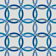 Seamless circle geometric pattern — Image vectorielle