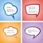 Web design speech bubble set — Stock Vector