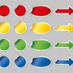 Multicolored vector stickers set — Stock Vector