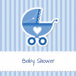 Stock Vector: Baby boy card