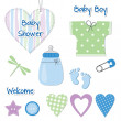 Baby boy design elements — Stock Vector