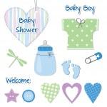 Baby boy design elements — Stock Vector