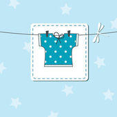 Baby boy shower invitation — Stock Vector
