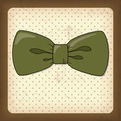 Vintage Greeting Card with Bow-Tie — Stock Vector