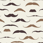 Vintage Seamless Pattern with Mustaches — Stock Vector