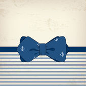 Vintage card with bow tie — Stock Vector