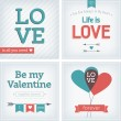 Valentine's day and wedding card — Stock vektor