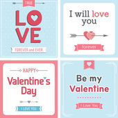 Valentine's day card set — Stock Vector