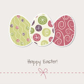 Vintage Easter card with eggs — Vector de stock