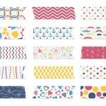 Washi tape strips — Stock Vector