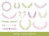Vector Laurel Branches and Wreaths — Stock Vector