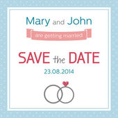 Wedding invitation, Save the date — Stock Vector