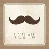 Card for man, mustache — Stock Vector
