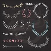 Wedding wreaths and laurels — Stock Vector