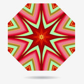векторный icon эко, элементом дизайна цветы — Cтоковый вектор