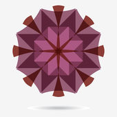 Vector eco icon, flower design element — Stockvektor