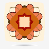 Vector eco icon, flower design element — Vetorial Stock