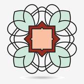 Icono vector eco, elemento de diseño en flor — Vector de stock