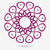 Icône de vecteur eco, élément de design fleur — Vecteur