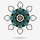 花のデザイン要素ベクトル エコ アイコン — ストックベクタ