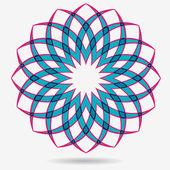 Wektor eco ikona, kwiat element projektu — Wektor stockowy