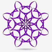 Vektör eko simgesi, çiçek tasarım öğesi — Stok Vektör