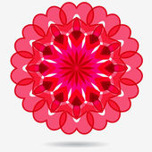 Vector eco icon, flower design element — Stock Vector