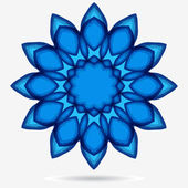 Vector eco icon, flower design element — Vector de stock