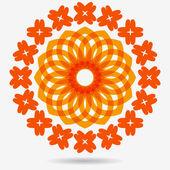 Vector eco icon, flower design element — Stockvector