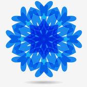 Vector eco icon, flower design element — Stock Vector