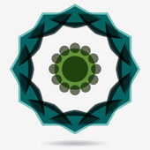 Vector eco icon, flower design element — 图库矢量图片